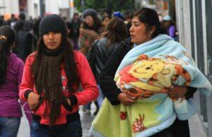 En Arequipa reportan temperaturas de cero grados