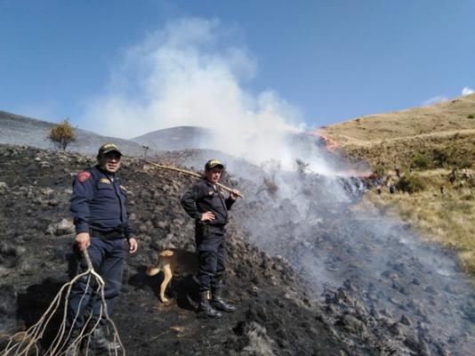 Incendio en Paucartambo