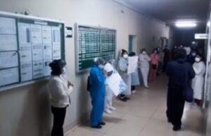 Personal del hospital COVID descontentos con cambios de jornada