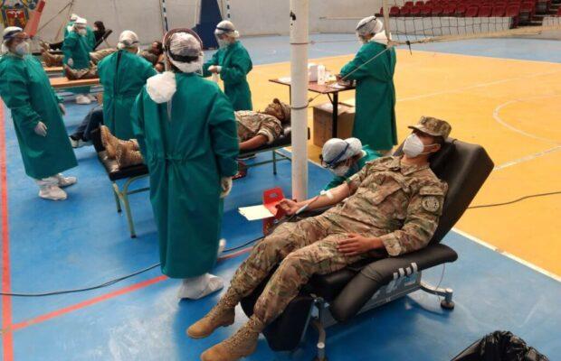 El Ejército participó de donación de sangre