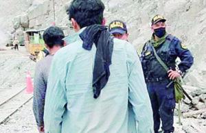 Arrestan ladrones de minera en Camaná