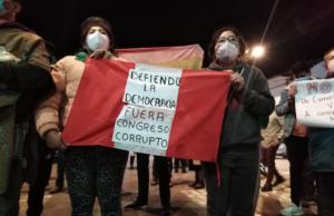 Protesta en Cusco contra destitución de Vizcarra