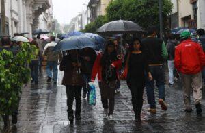 Se prevén lluvias en la ciudad de Arequipa.