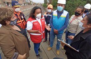 Inspeccionan daños causados por las lluvias en Arequipa