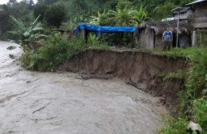 viviendas colapsadas en Alto Inambari