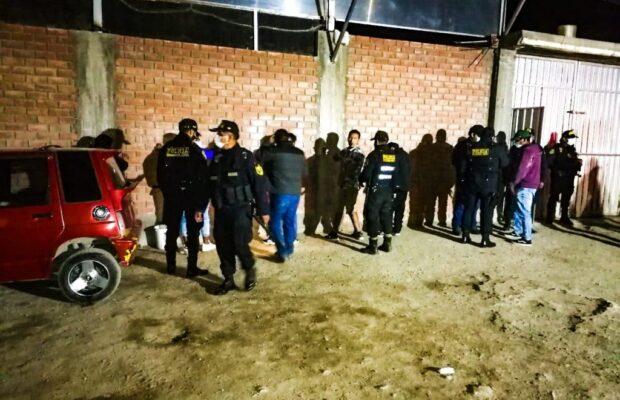 Fiesta chicha es intervenida en Paucarpata