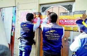 Bares informales cerrados en Cerro Colorado