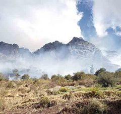 Incendio cerca al Señor de Huanca en Cusco