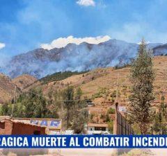 Muerte trágica al combatir incendio forestal